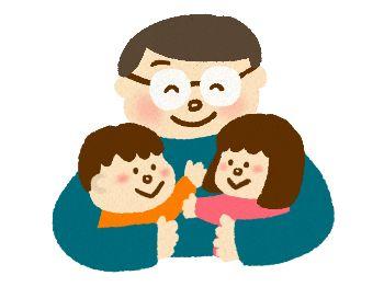 子供を抱きしめる父