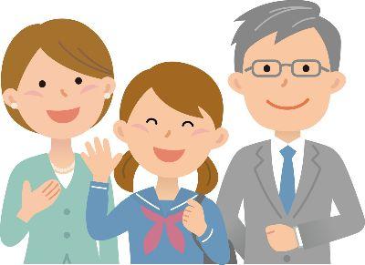 女子高生と親