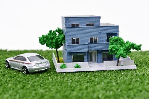 二世帯住宅の模型