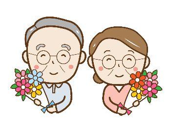祖父母に花をプレゼント