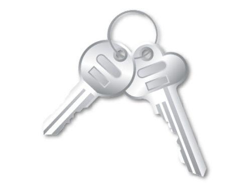 鍵を持っている